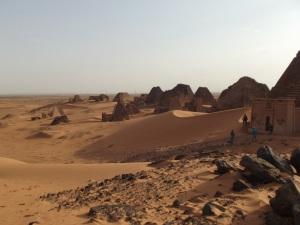 The Nubiian desert, Sudan. HOT!!!